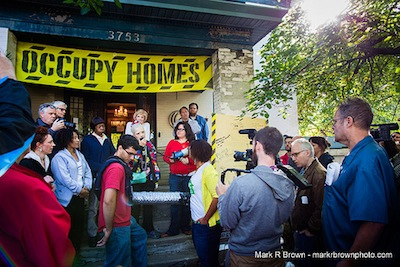 Neighbors block eviction for Minneapolis homeowner who paid for house five times