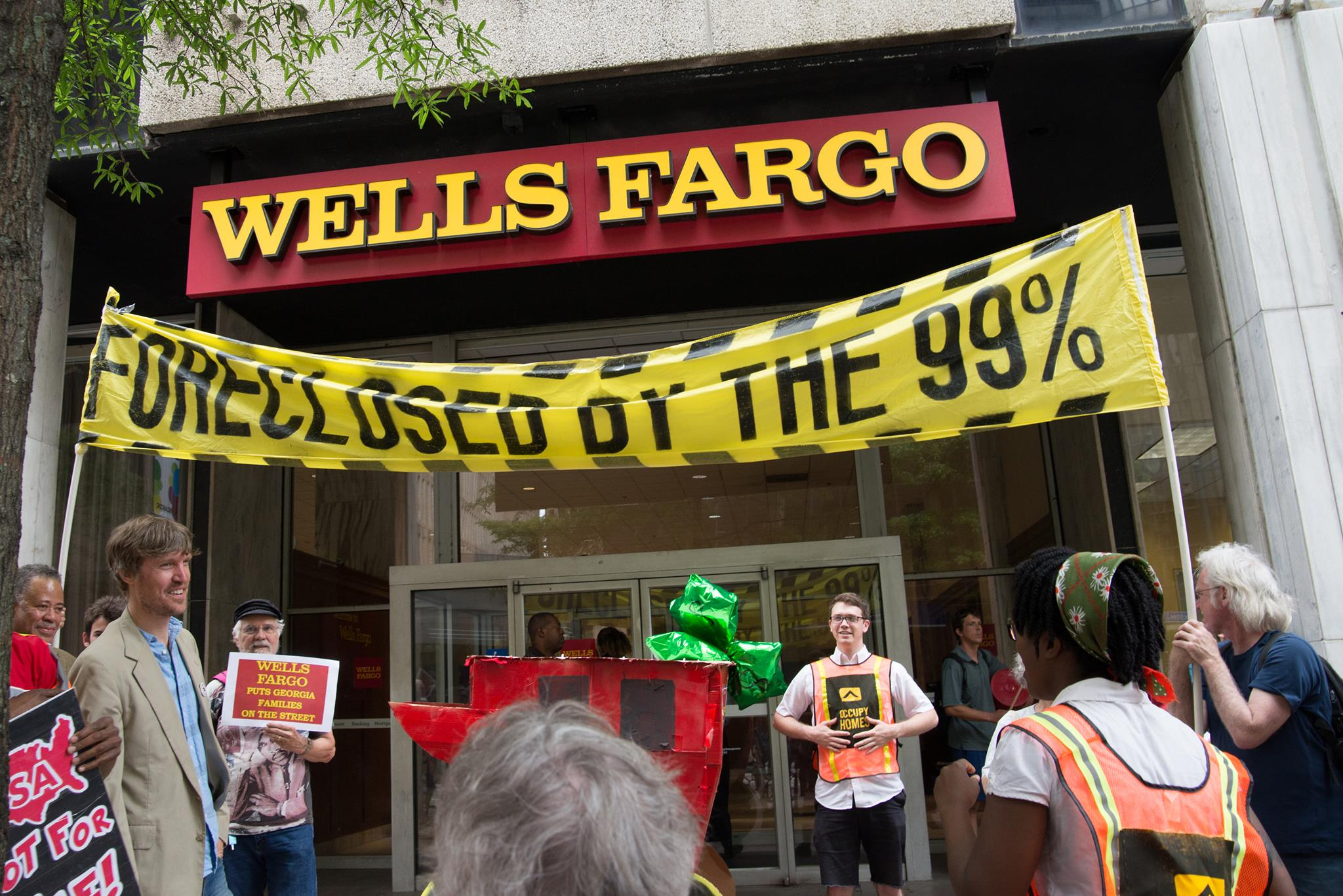 Foreclose On Wells Fargo: Day 1