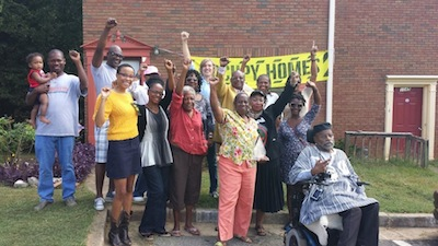 VICTORY! Mildred Garrison-Obi wins her home back after Occupy Our Homes Atlanta moved her back in!