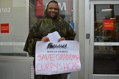 Home Defenders Take Action Against Wells Fargo in Support of 86 Year Old Grandmother Facing Foreclosure